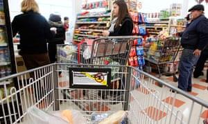 US supermarket checkout