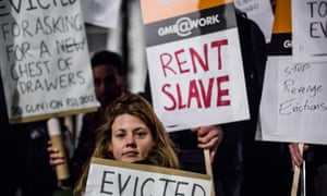 Activists gathered near Parliament to stage the End Revenge Evictions' protest