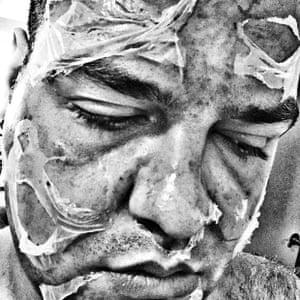 self portrait of a broken man