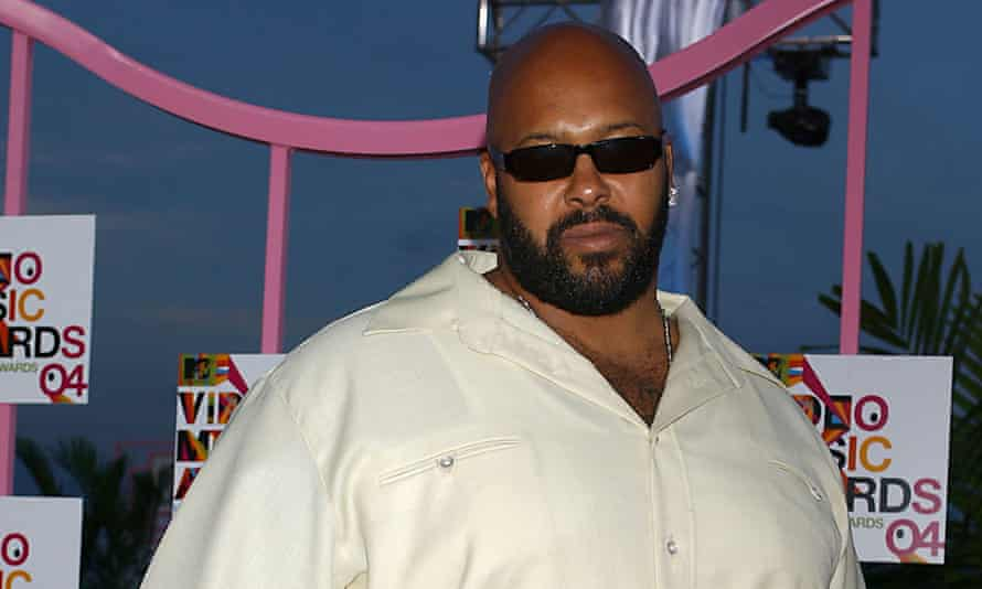 Suge Knight before he was shot in the leg.