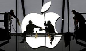 Apple store workers in Hangzhou, China