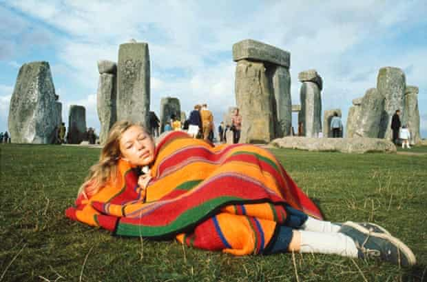 Cynthia Copple, Roger Steffens's first wife, at Stonehenge, England, in 1971.