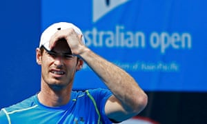 Andy Murray during a practice session in Melbourn
