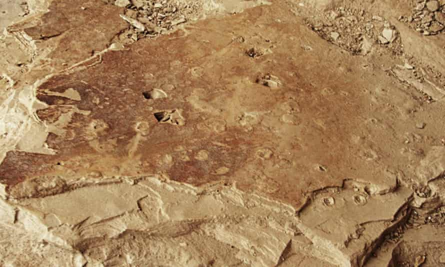 A lasting impression: the fossilised impact craters of primeval raindrops.