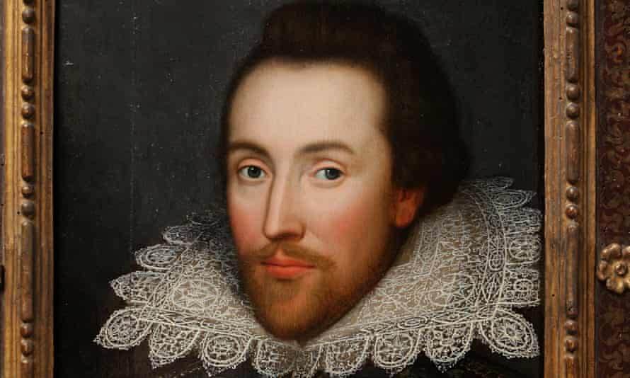 A portrait of William Shakespeare from around 1610.