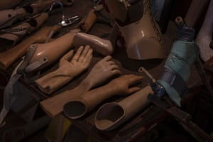 Prosthetic arms on display at the COPE Visitor Centre, Vientiane. COPE is a local not-for-profit organisation providing access to prosthetic devices and rehabilitation services to people with disabilities. One third of its patients are UXO-related victims.