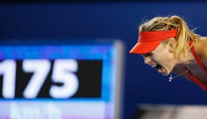 Maria Sharapova is producing a determined display and some high quality tennis to stay in the final.