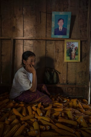 Mai Khang, 30, is a widow and mother of four kids living in the village of Khang Khae