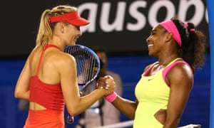 After the hostilities, the pair share a warm exchange at the net.