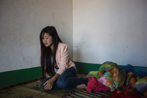 """Nyoua Yang, 16, from Nam Kha, lost her right eye on a late afternoon in 2009, when the hoe she was using to clear the grass from her family's rice field hit a cluster bomb. """" I just remember a small explosion, then a piece of shrapnel went into my eye"""". Yang, who was 11 at that time, lost her eye after a doctor refused to operate on her because she was too young."""