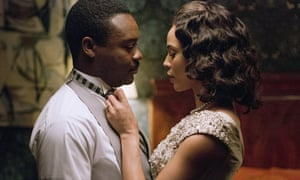 David Oyelowo, who has not been nominated for a Bafta this year, and Carmen Ejogo in Selma.