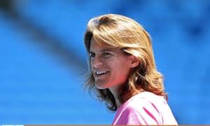 Amélie Mauresmo at the Australian Open.