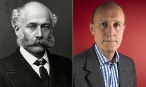 Sir Joseph Bazalgette, the Victorian civil engineer, left, and Sir Peter Bazalgette, the TV producer
