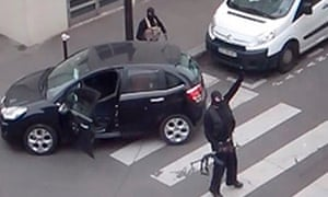 The men who attacked the Charlie Hebdo office in Paris.