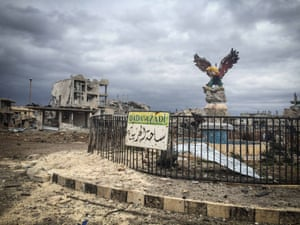 The eagle in Freedom Square survived airstrikes and Isis attacks