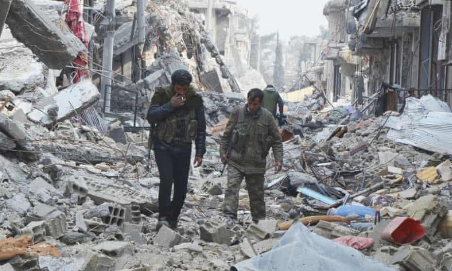 Kobani rubble