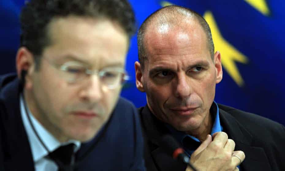 greece finance minister Yanis Varoufakis dutch eroen Dijsselbloem eurogroup