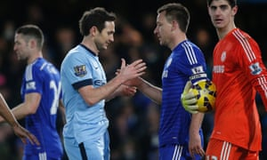 Frank Lampard and John Terry shake hands after the final whistle.
