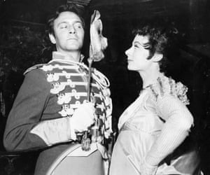 Playing opposite Christopher Plummer in Shakespeare's Much Ado About Nothing, 1961