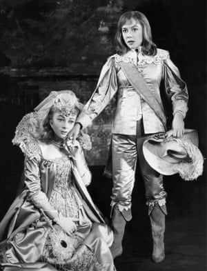 As Olivia in the Stratford-on-Avon company's 1960 production of Twelfth Night, with Dorothy Tutin, as  Viola