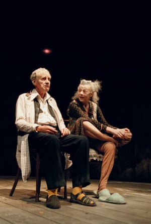 With Richard Briers in The Chairs, at The Royal Court Theatre, London.