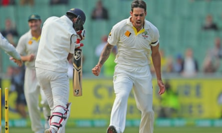 Mitchell Johnson will not play in the fourth Test against India due to hamstring soreness.