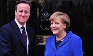 David Cameron with Angela Merkel in February 2014