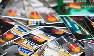 More and more younger and poorer households are relying on credit cards and borrowing to fuel consumption, figures show.