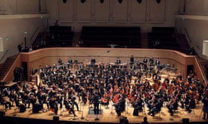South Korean conductor Myung-Whun Chung leads a rehearsal at the Salle Pleyel