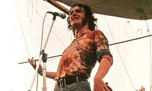 Joe Cocker performing at Woodstock on 17 August 1969