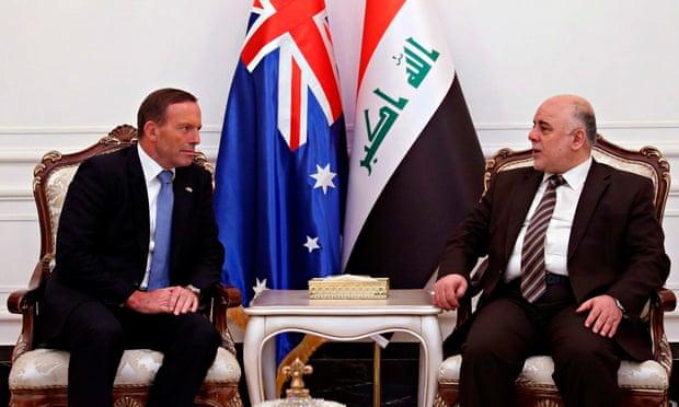 Tony Abbott and Haider al-Abadi