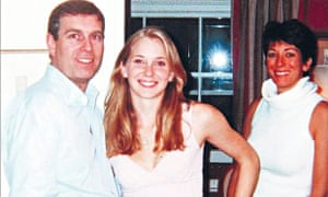 Virginia Roberts, Prince Andrew and Ghislaine Maxwell