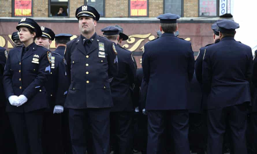 NYPD officers turn backs