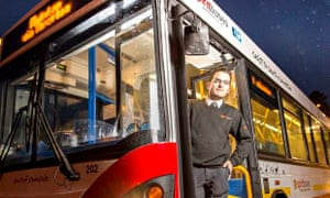 Spirit buses founder Steve Hurst at the depot in Rothbury from where they operate two buses on route