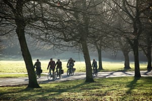 Cyclists take part in the January Tweed Ride