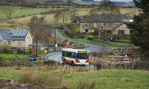Coquetdale valley's Spirit Bus service stops at Netherton