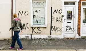 Racist attack on a house in Belfast, Northern Ireland
