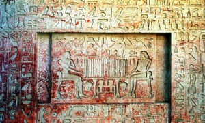 A detail from a 4,000-year-old tomb in Abu Sir, southwest of Cairo. Another tomb, believed to belong to the wife of Pharaoh Neferefre, has been discovered there by Czech archaeologists.