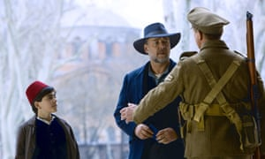 Act your age ... Russell Crowe (right) with Dylan Georgiades in The Water Diviner