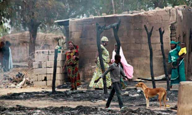 Baga town was the scene of fighting between troops and Boko Haram in early 2013