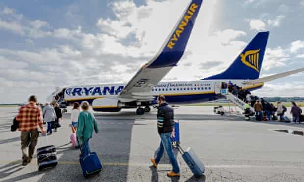 Ryanair plane in Germany
