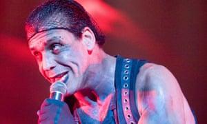 Till Lindemann of Rammstein in concert at Belgrade Arena, Belgrade, Serbia
