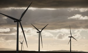 Whitlee windfarm on Eaglesham Moor, just south of Glasgow in Scotland.