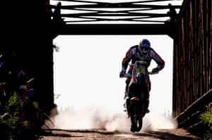 #1 Marc Coma of Spain and riding the for the Red Bull KTM Factory Team competes during day 1 of the Dakar Rallly between Buenos Aires and Villa Carlos Paz, Argentina.