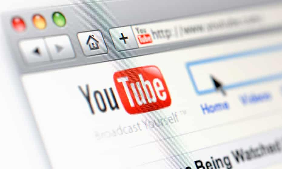 The YouTube logo and search tool.