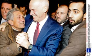 Former Greek prime minister George Papandreou arrives for the announcement of his new political party 'Democrats and Socialists' Movement.