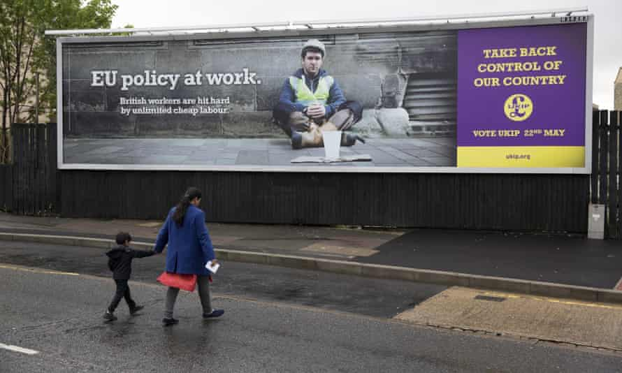 A Ukip poster in Luton