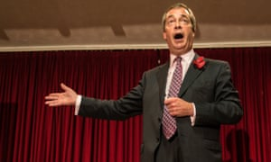 Nigel Farage at a public meeting