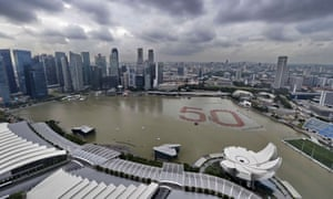 Marina Bay marks Singapore's 50th anniversary in 2015.