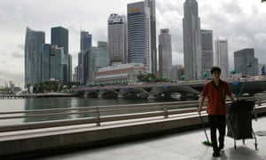 A Singapore street cleaner.